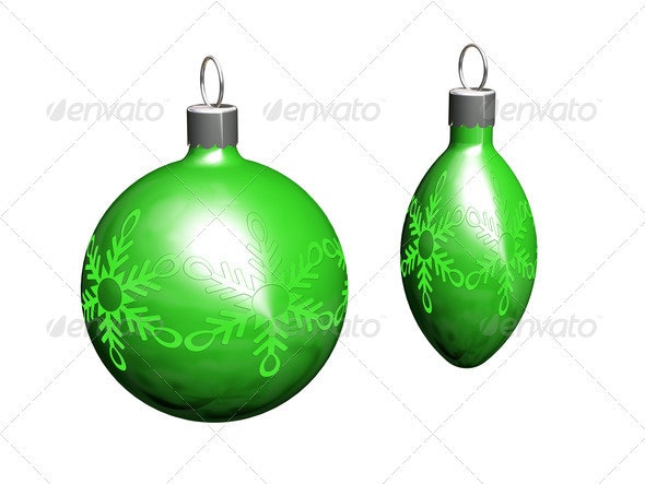 Christmas baubles - Objects 3D Renders