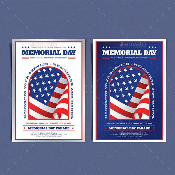Memorial Day Two Colour Template