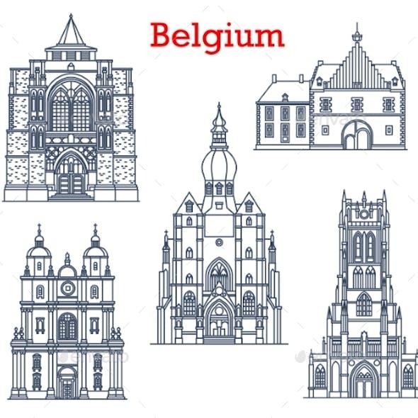 Belgium Landmarks Cathedrals in Tongeren Dinant