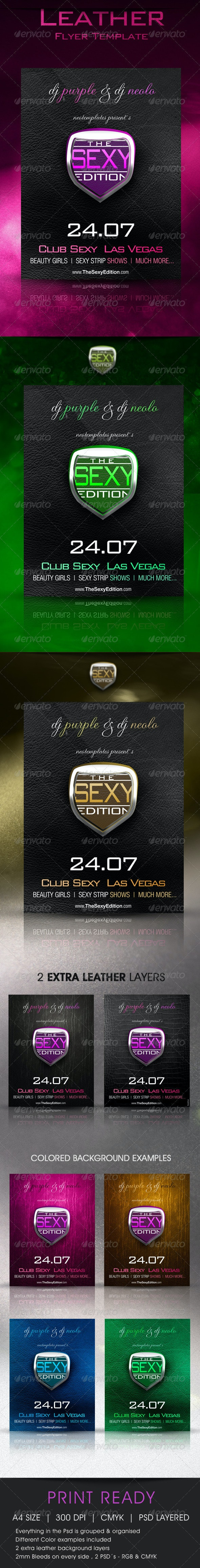 Leather Flyer Exclusive - Clubs & Parties Events