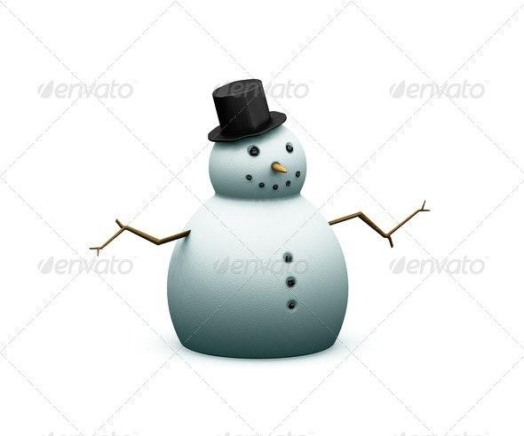 Snowman - Characters 3D Renders