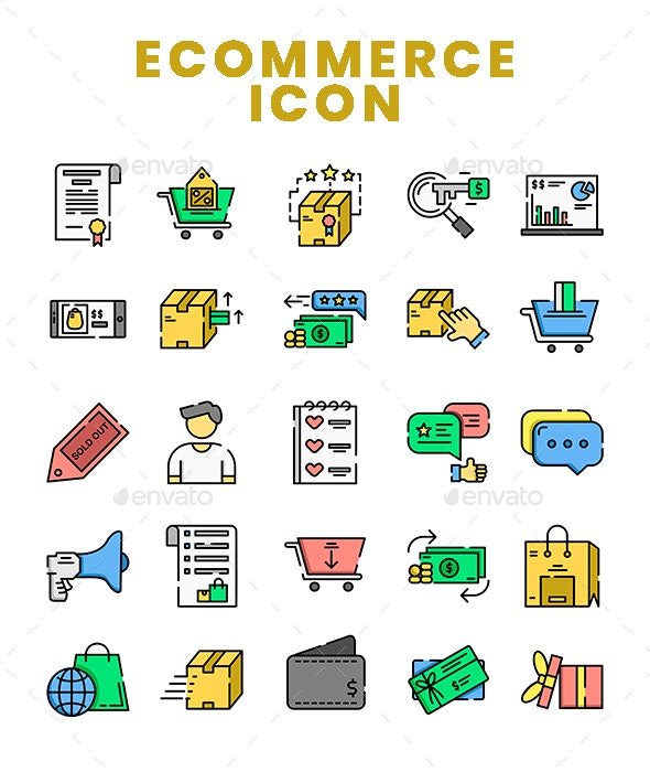 Ecommerce Filled Colour Icon - Business Icons
