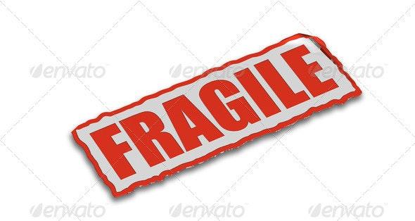 Fragile - Text 3D Renders