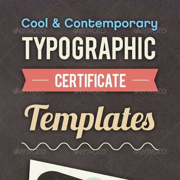 Typographic Certificate