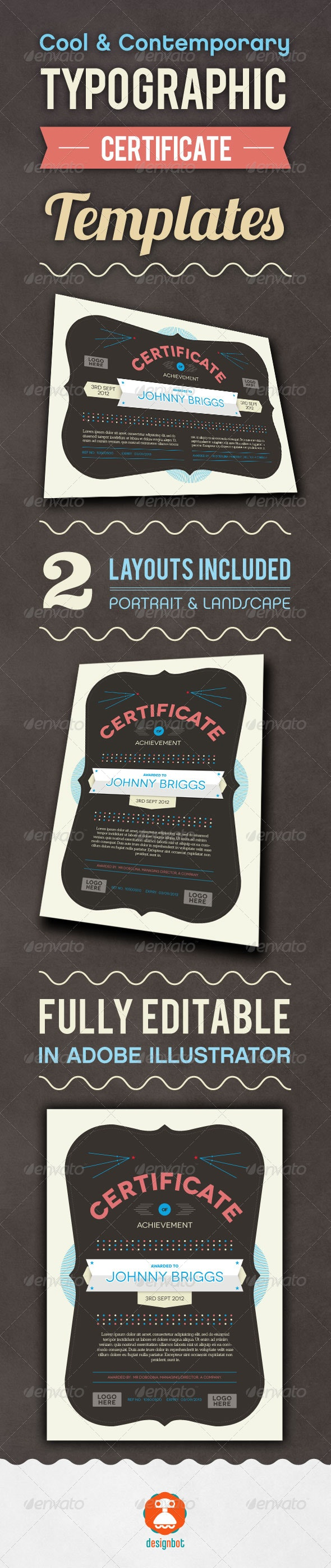 Typographic Certificate - Certificates Stationery