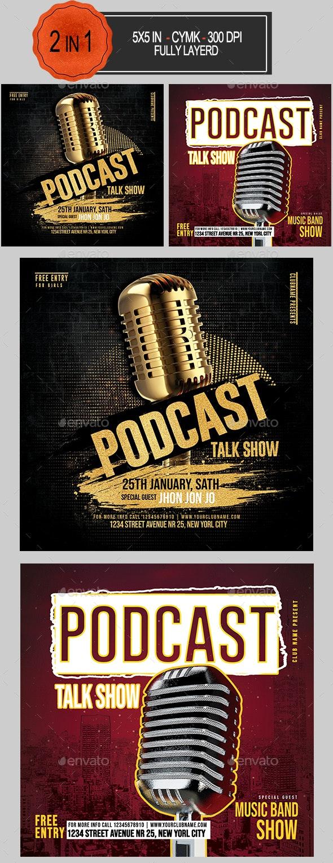 Podcast Flyer Bundle - Clubs & Parties Events