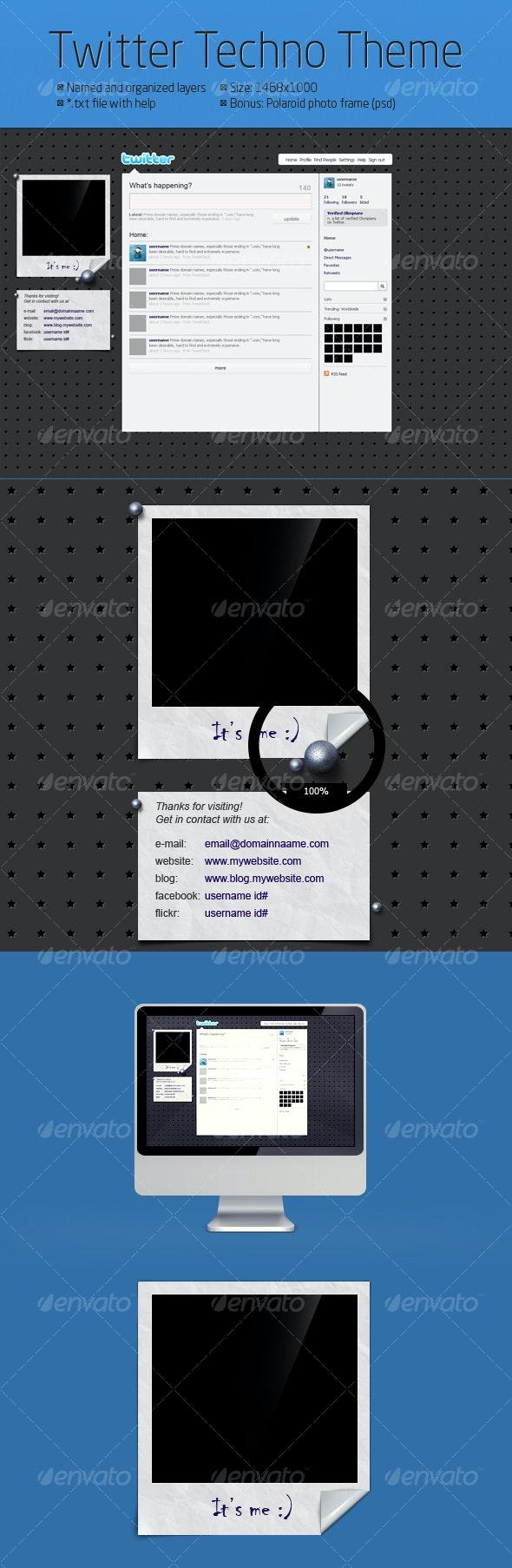 Twitter Techno Theme - Miscellaneous Web Elements