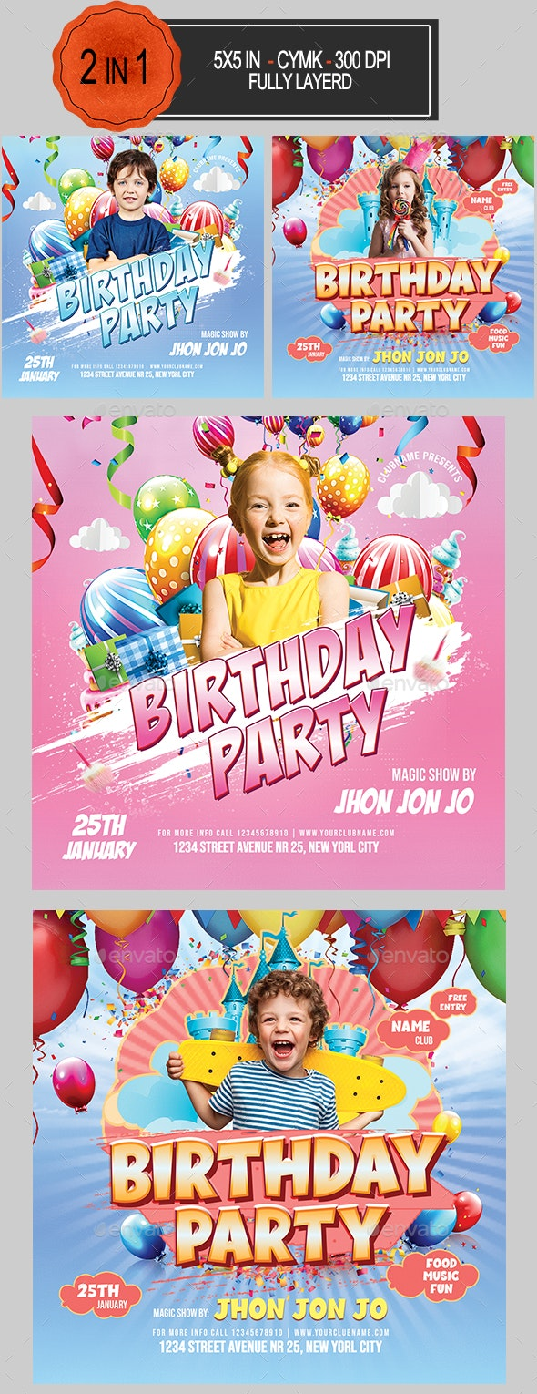 Kids Birthday Party Bundle - Clubs & Parties Events