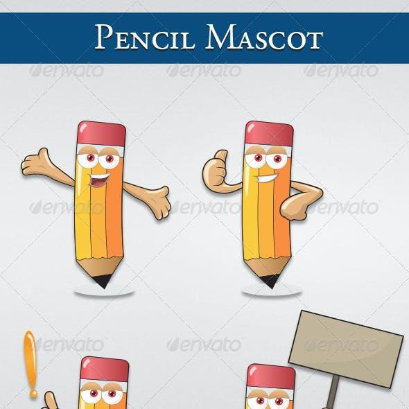 Pencil Mascot