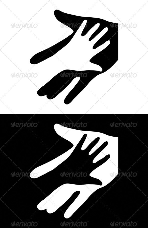 Two Hands Sign - People Characters