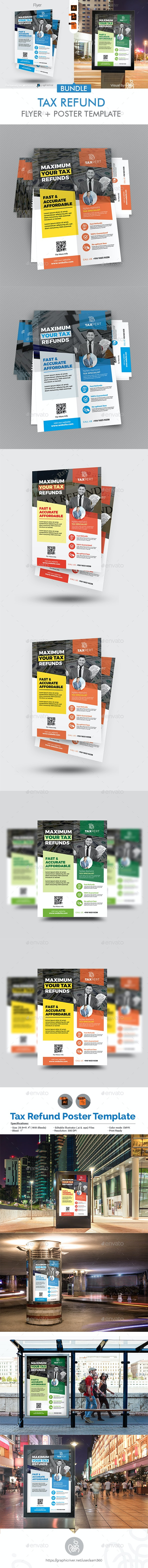 Tax & Consulting Services Flyer + Poster Bundle - Flyers Print Templates