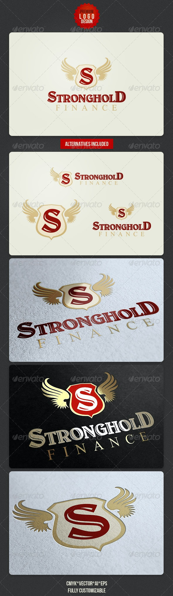 Finance Retro Logo Design - Symbols Logo Templates