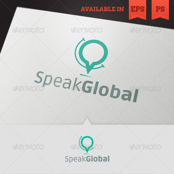 Speak Global Logo Template
