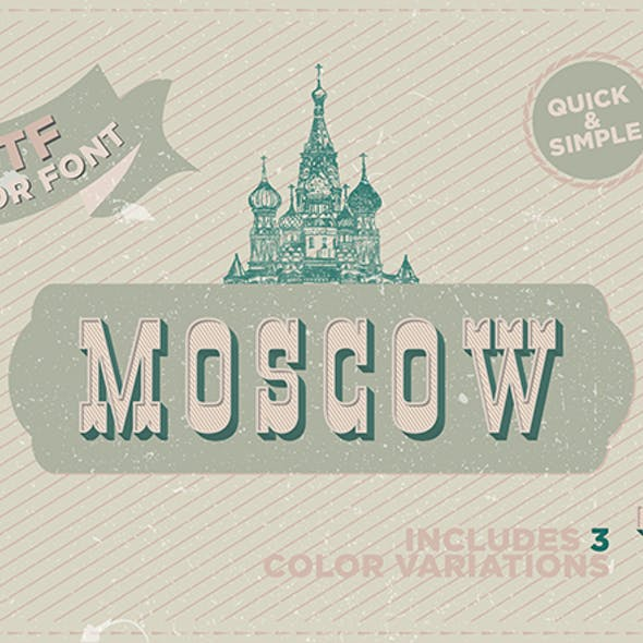 Moscow - OTF color font