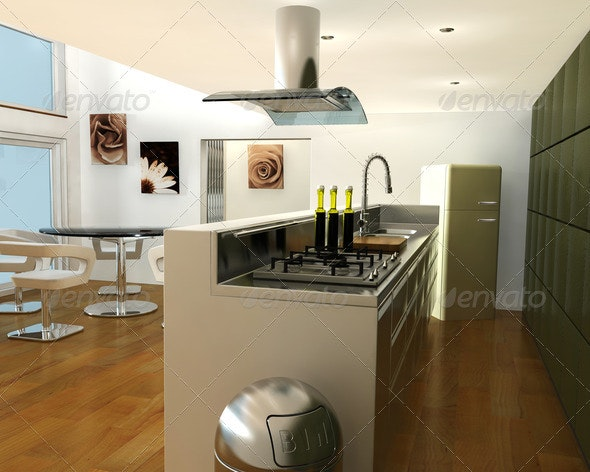Interior of a kitchen - 3D Renders Graphics