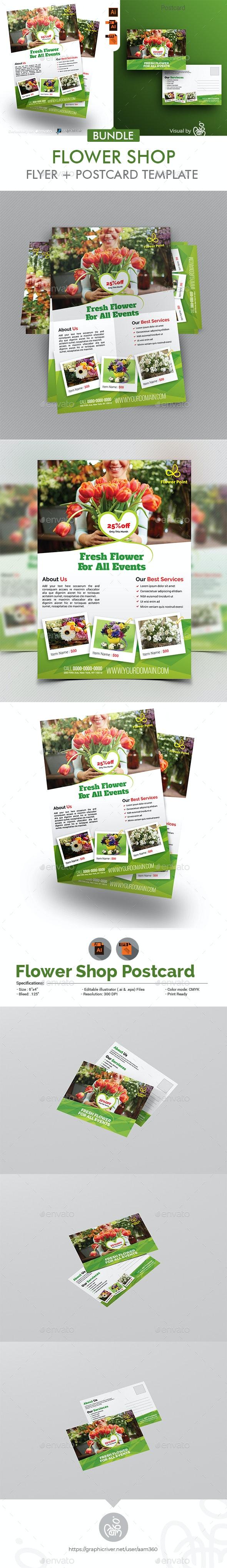Flyer Shop Flyer + Postcard Bundle - Flyers Print Templates
