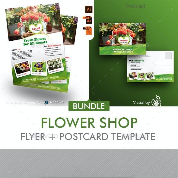 Flyer Shop Flyer + Postcard Bundle