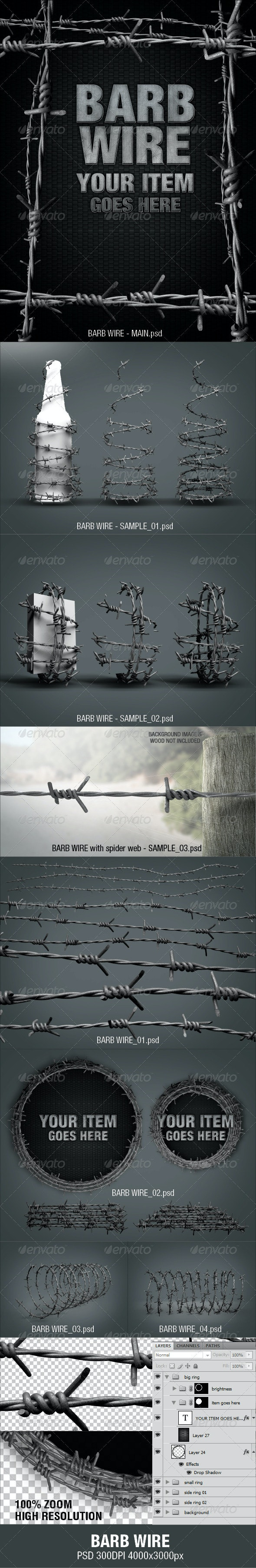 Barb Wire - Miscellaneous 3D Renders