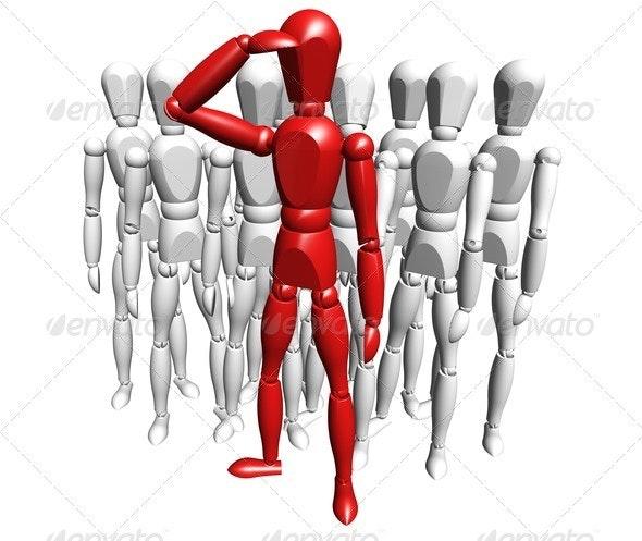 Leadership - Characters 3D Renders