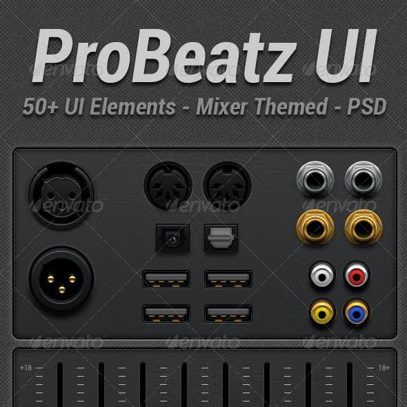 Pro Beats Audio Mixer UI