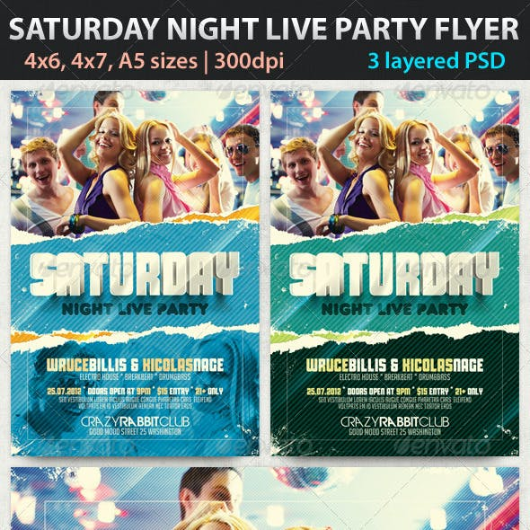 Saturday Night Live Party Flyer