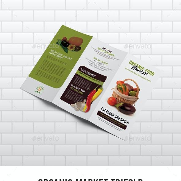 Organic Market Trifold Brochure