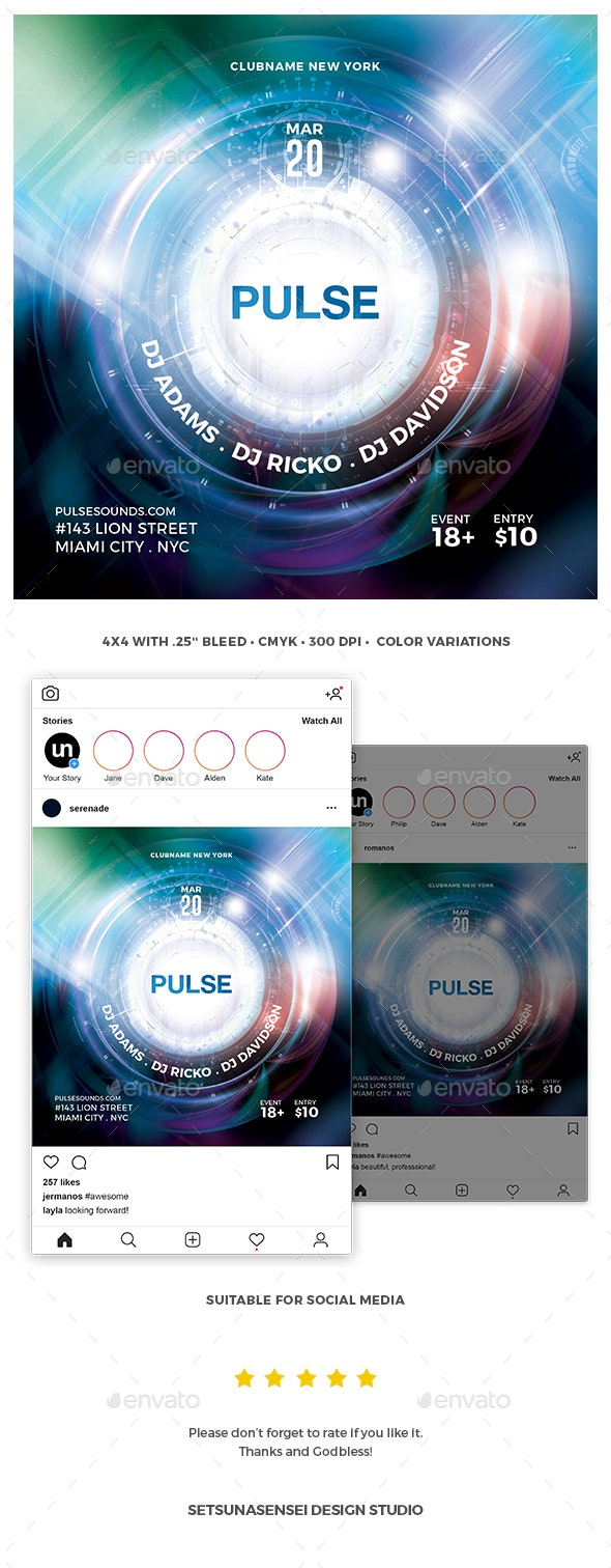 Pulse Flyer - Clubs & Parties Events