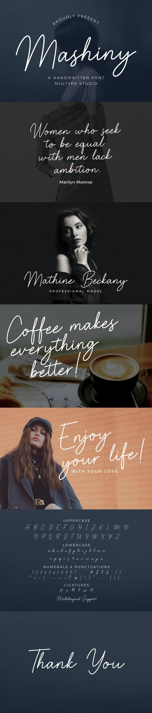 Mashiny - Handwriting Fonts