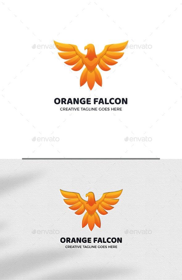 Orange Falcon Animal Logo Template - Animals Logo Templates