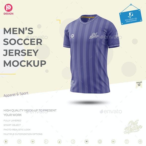 Men's Soccer Jersey Mockup V12