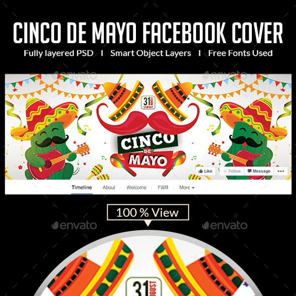 Cinco De Mayo Facebook Covers