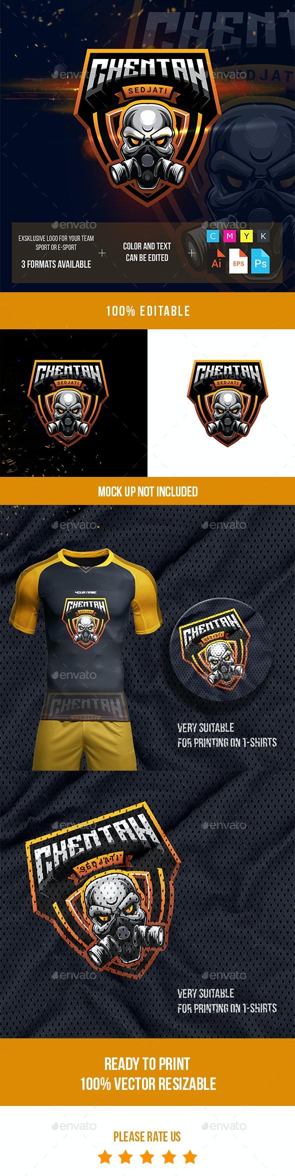 Skull Head Esport Logo Gaming - Symbols Logo Templates