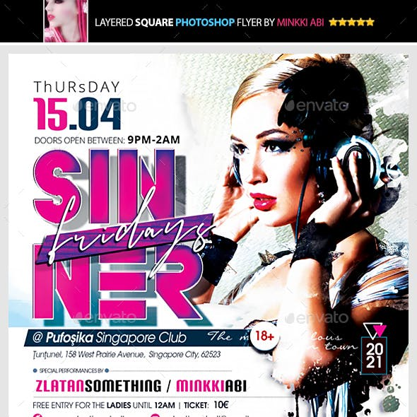 Sinner Fridays Flyer
