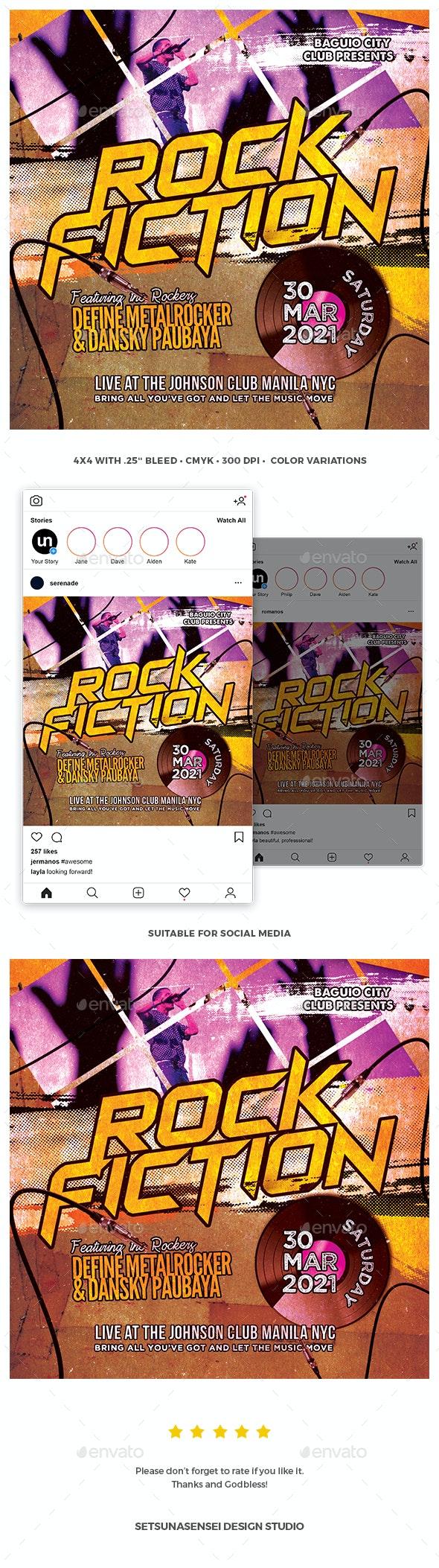 Rock Fiction Flyer - Clubs & Parties Events