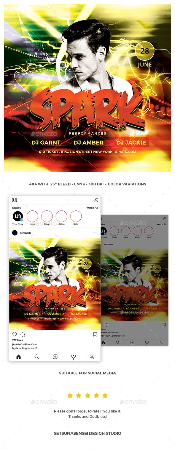 Spark Flyer - Clubs & Parties Events