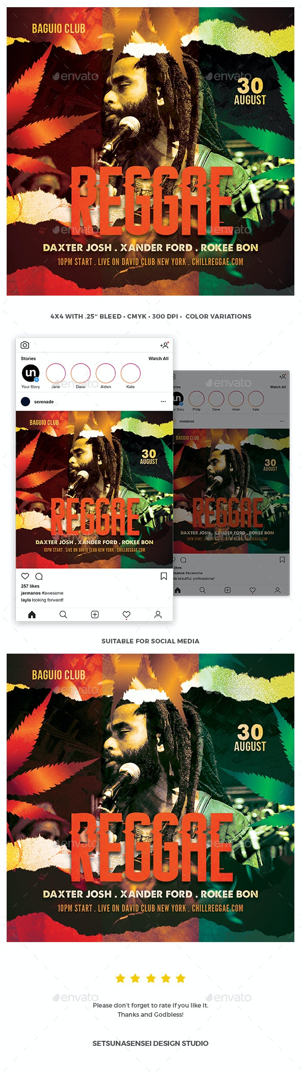 Reggae Flyer - Concerts Events