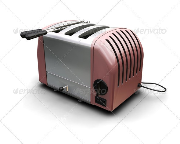 Contemporary toaster - Objects 3D Renders