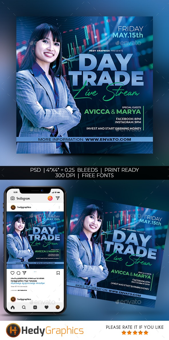 Day Trade Flyer - Flyers Print Templates