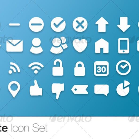 Socialite Icon Set (40 Vector Icons)