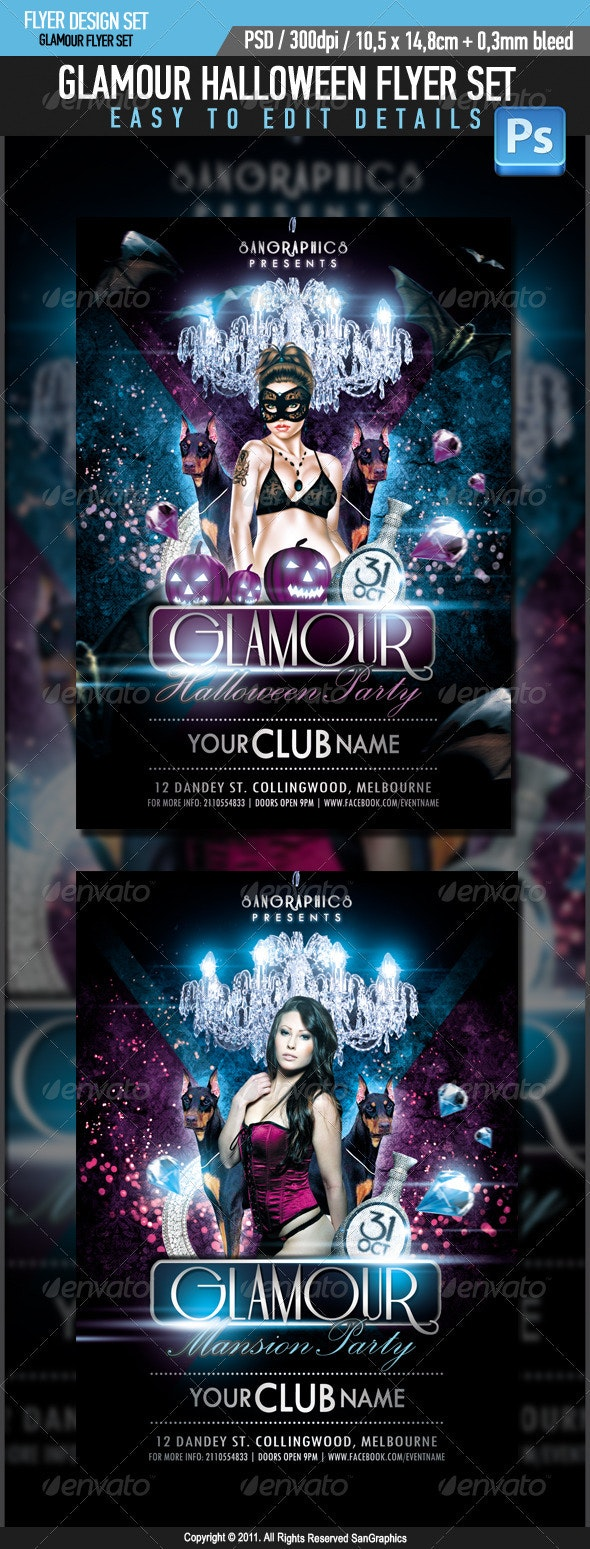 Glamour Halloween Flyer - Clubs & Parties Events