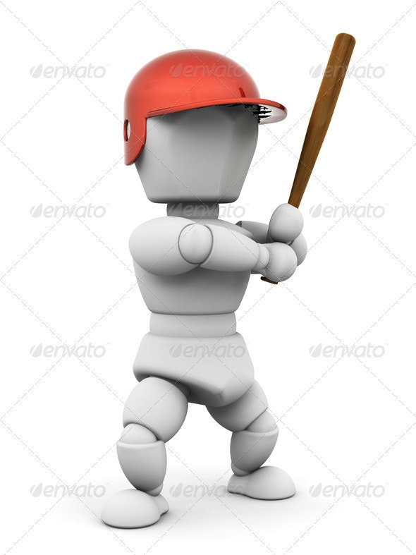 Baseball player - Characters 3D Renders