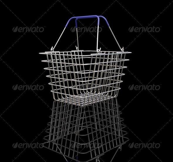 Shopping basket - Objects 3D Renders