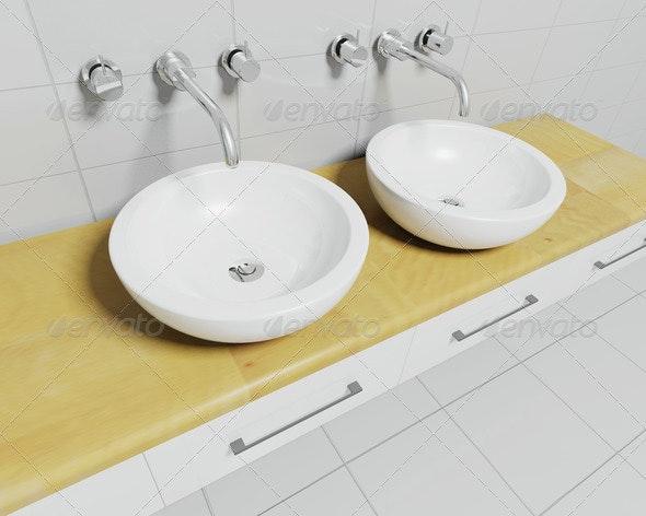 Bathroom sinks - Architecture 3D Renders