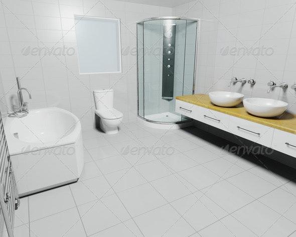 Contemporary bathroom - Architecture 3D Renders