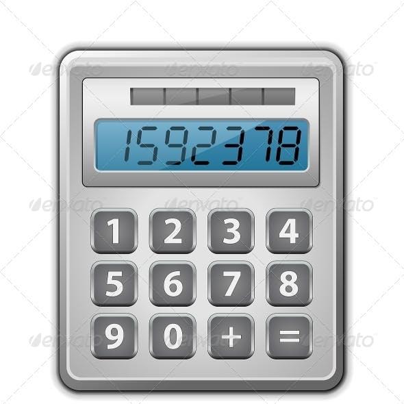 Metallic Office Calculator