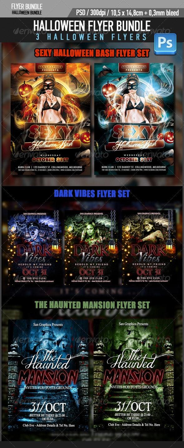 Halloween Flyer Bundle - Flyers Print Templates