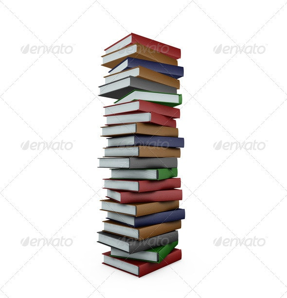 Huge stack of books - Objects 3D Renders