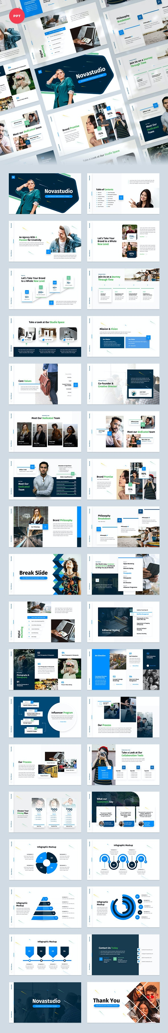 Client Welcome Guide PowerPoint Presentation Template - Business PowerPoint Templates