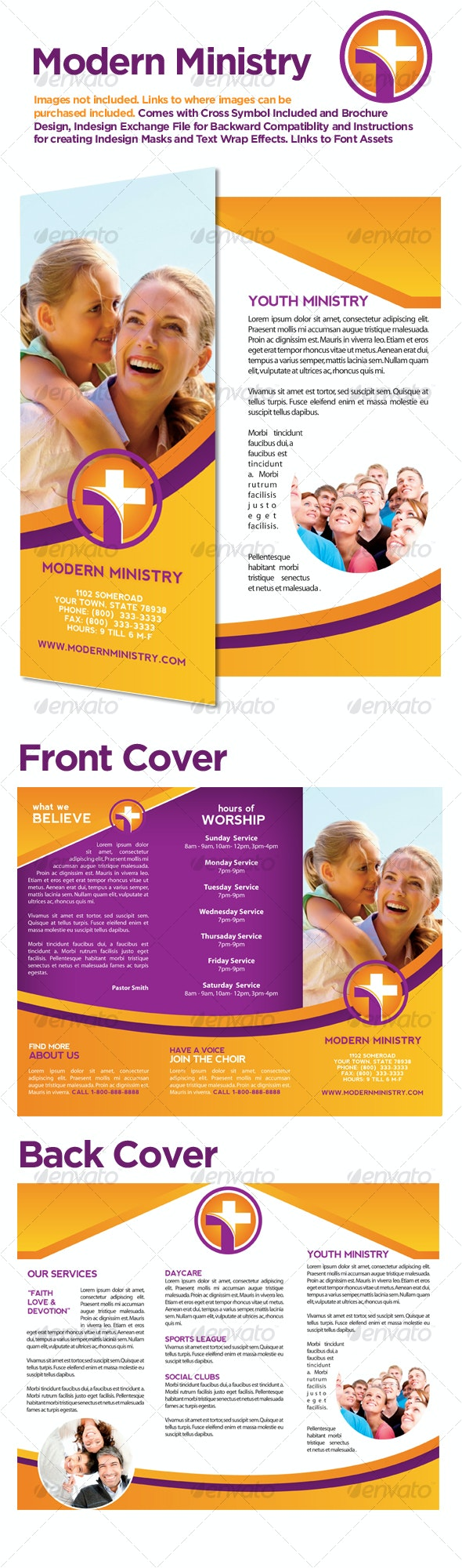Modern Ministry Tri-fold Brochure - Corporate Brochures