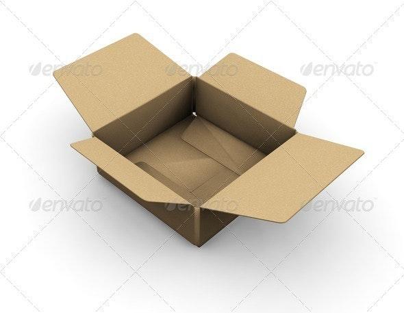 Open box - Objects 3D Renders